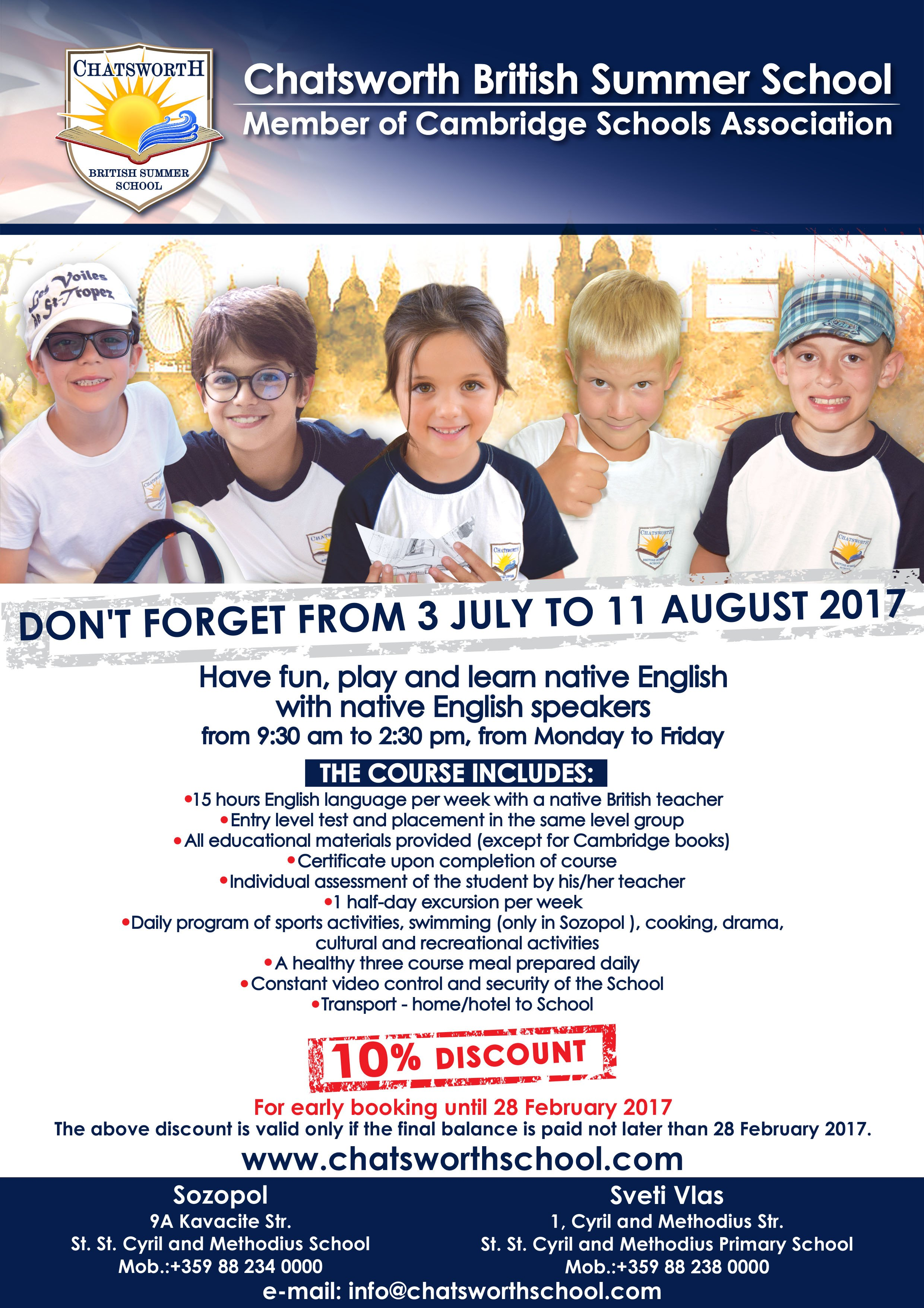 Chatsworth British Summer School 2017 - Santa Marina